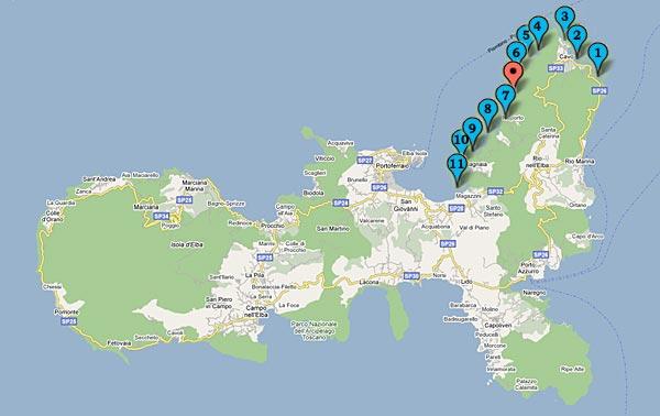 Insel Elba Karte.Der Strand Von Nisportino Und Die Strände In Der Nähe Helios